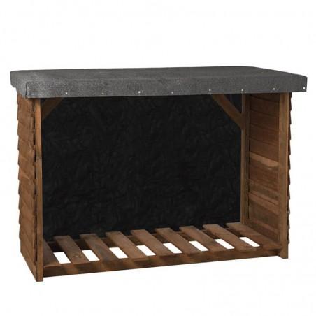 Leñero de madera Sol  | 140x100x60cm