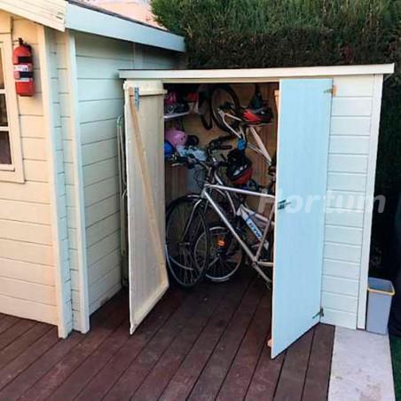 Armario de madera para Bicicletas - Guarda bicis