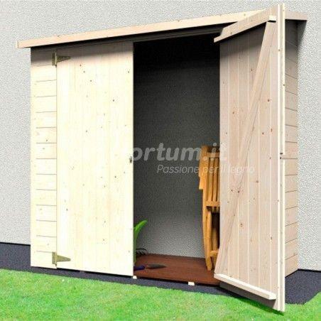 Armario de madera exterior adosado 12mm, 170x82cm 3 paredes