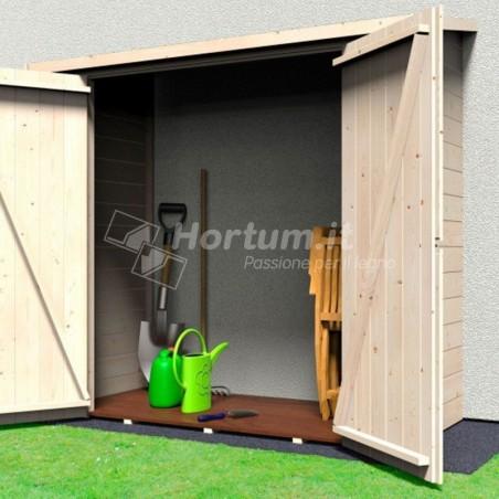 Armario exterior de madera adosado 12mm, 170x82cm 3 paredes