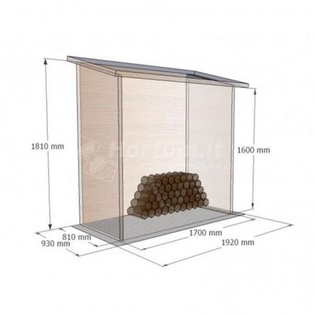 Medidas leñero de madera Aveal 192x93cm