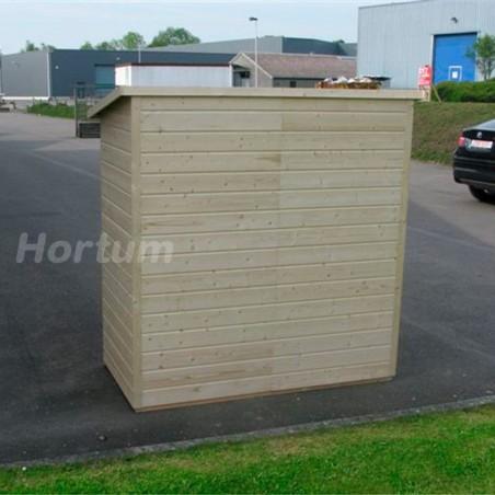 Leñero de madera Aveal 192x93cm