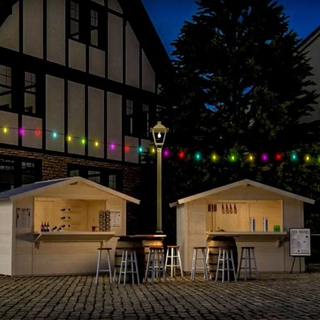 Quiosco de madera Spritz - Amplia barra frontal - Puerta trasera, 300x200cm