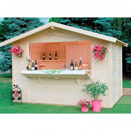 Kiosco de madera Spritz - Suelo - Puerta trasera -Amplia barra frontal