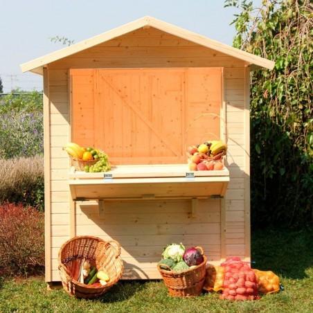kiosco de madera Mojito - Kiosco Madera Jardín