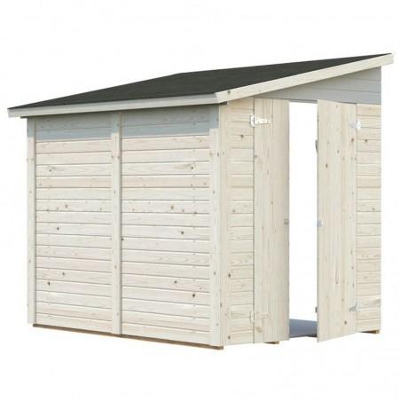 Cobertizo adosado de madera para jardín 3,4 m²