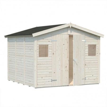Cobertizo de madera natural Dan 7m²