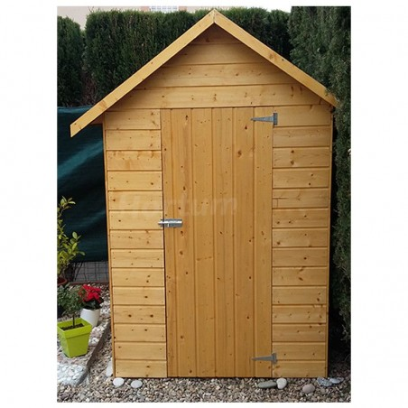 Caseta de madera para jardín Ambeal 12mm, 122x162cm 1.98m²