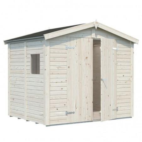 Cobertizo de madera para jardín Dan 4,6 m² - 16 mm - 243 x 190cm