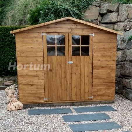 Caseta de jardín Lodum | Tratamiento incluido color marrón