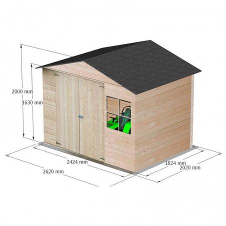 Medidas caseta de madera económica Loguec