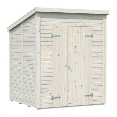 Cobertizo en madera natural Leif 3.1m²