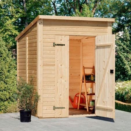 Cobertizo de madera Leif. Suelo y tratamiento incluidos