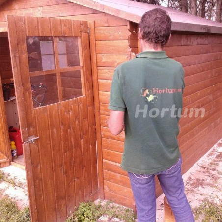 Montaje Caseta de madera Mirama con ventana lateral | 7.24 m²