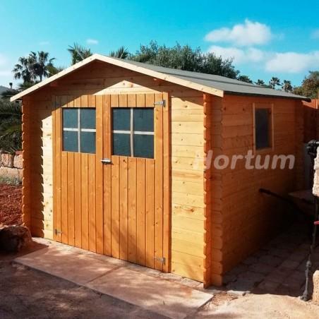 Caseta de madera con ventana lateral. Galerna 7,24m²