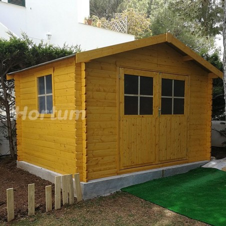 Caseta para jardín Flodavil. 28 mm, 324 x 268 cm. 8.68 m² |68376S000