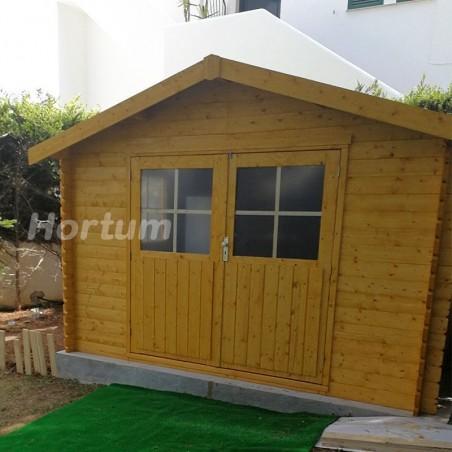 Caseta para jardín Flodavil. 28 mm, 324 x 268 cm. 8.68 m²