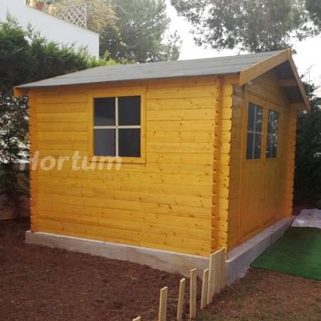 Caseta de madera Flodavil. 28 mm, 324 x 268 cm. 8.68 m² | 68376S000