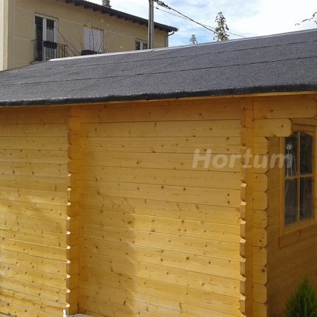 Caseta madera Lebeche. 34 mm,  486 x 386 cm. 18.76 m²