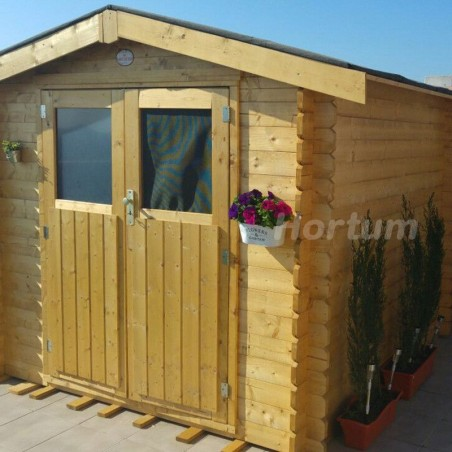 Casetas de madera con Flores. Caseta de 233x233 cm. Hortum