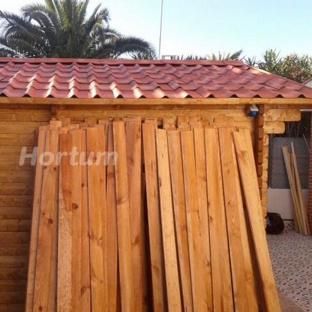 Caseta de madera Fordiger co teja asfáltica