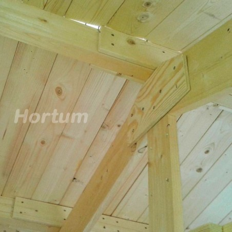 Techo de lamas caseta de madera Fordiger