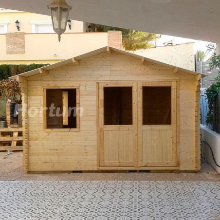 Caseta de madera Fordiger. 44 mm, 386 x 386cm, 14.9 m²