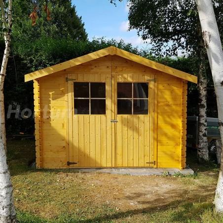 Caseta de madera Flodova. 28 mm, 300 x 200 cm, 5.9 m²