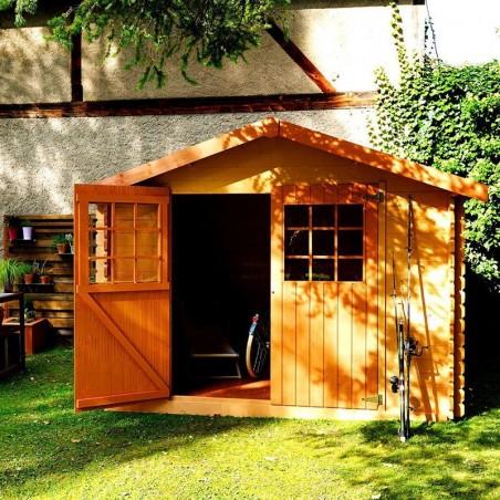 Caseta para jardín Flodova. 28 mm, 300 x 200 cm, 5.9 m²