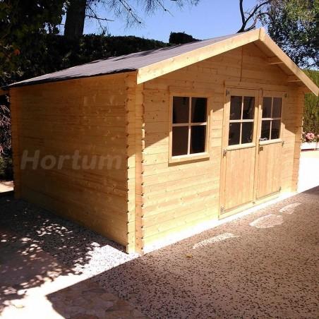 Caseta de madera con tela asfáltica Manil 400x300 cm