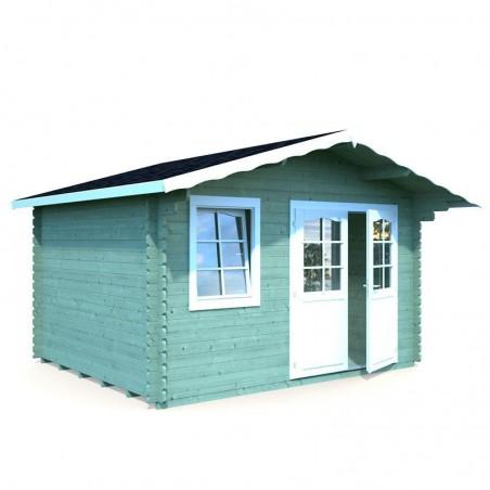 caseta de madera palmako. Emma, 34 mm, 380 x 320 cm. 10.4 m²