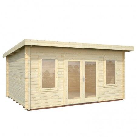 Caseta madera jardín Lisa 470 x 350 cm. 14,2 m² - sin detalle ventana