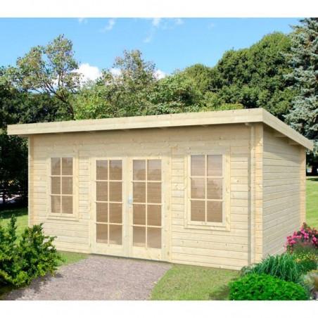 Caseta de madera Lisa, 44 mm, 470 x 350 cm. 14,2 m²