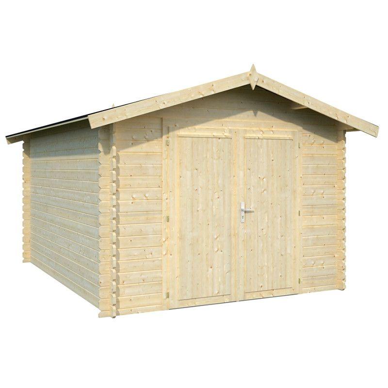 Garaje de madera Ralf 296 x 380 cm