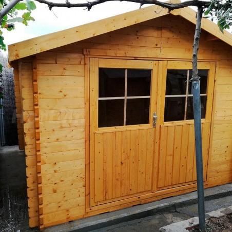Caseta de Madera Valodeal 3x3m. Caseta con doble puerta.  Hortum