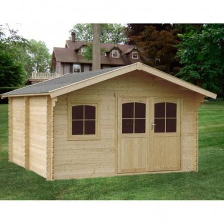 Caseta de madera Valodrak. 34 mm, 386 x 386 cm, 14.9 m²