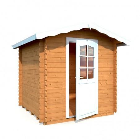 Caseta de madera Vivian, 28 mm, 220 x 220 cm. 3.8 m²