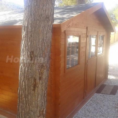Caseta de madera Valfor. 400 x 400 cm | Caseta jardín