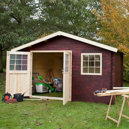 Oferta caseta de madera Valfor. 400 x 400 cm | Caseta jardín