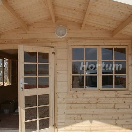 cabaña de madera England 2, 40mm, 404 x 404 cm, 16.3m²