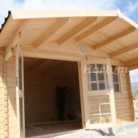 caseta para camping England 2 - Caseta de madera con suelo incluido