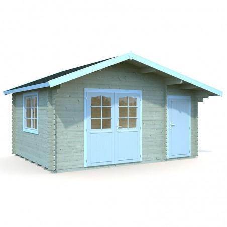 Caseta madera Emma, 34 mm, 470 x 350 cm. 14.2 m²