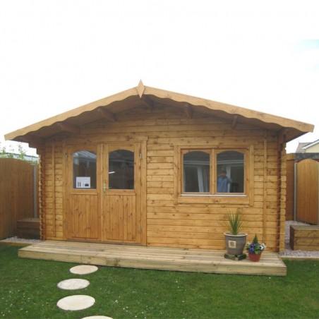 Caseta madera Sally, 44 mm, 470 x 380 cm, 15,5 m²