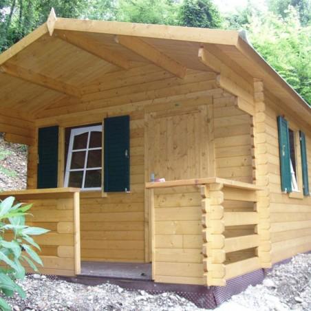 Caseta camping Emma 101885 34 mm, 350 x 350(480) cm. 16.80 m²