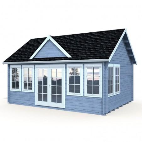 Caseta de madera Claudia, 44 mm, 550x400 cm. 22 m²