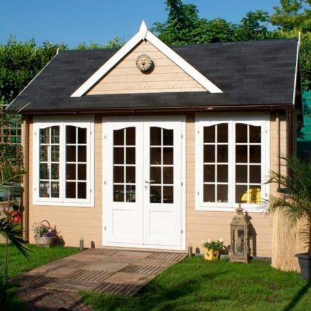 Caseta de madera Claudia, 44 mm, 420x320 cm. 13.44 m²