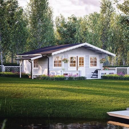 Caseta de madera Helena. 70 mm, 530 x 530 cm, 24,6 m²