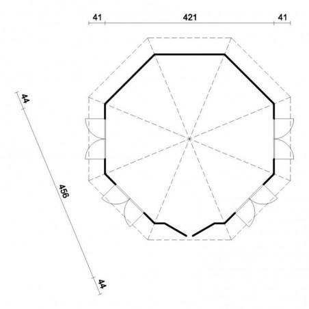 Plano Hanna 14.1 m²