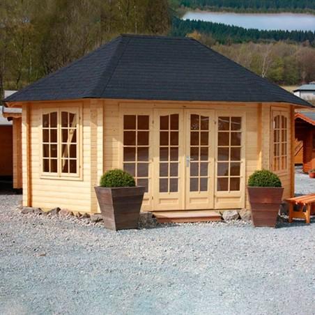 Pabellón de madera Hanna 44 mm, 421x571 cm, 20.3 m²