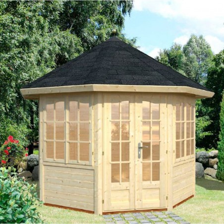 Pabellón de madera Verónica 2 28 mm, 289 x 359 cm, 6.7  m²